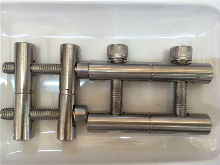 ansi 316ti / en 1.4571, 317l / en 1.4438 loạt thanh nối các bộ phận bằng thép không gỉ
