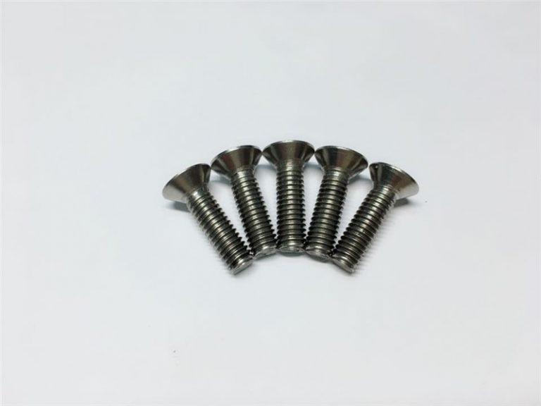 Vít titan M3, M6 đầu phẳng nắp đầu vít vít mặt bích cho phẫu thuật cột sống