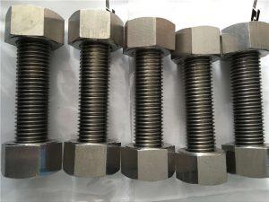 Hợp kim niken 400 EN2.4360 thanh ren hoàn toàn với đai ốc