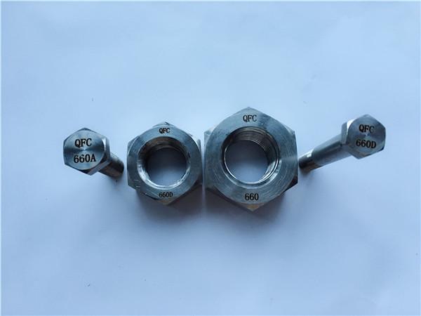 bu lông và đai ốc hợp kim 660, ốc vít din1,4980