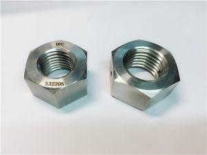 No.76 duplex 2205 F53 1.4410 S32750 ốc vít bằng thép không gỉ nặng hex