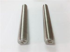Số 77 Chốt khóa bằng thép không gỉ duplex 2205 S32205 DIN975 DIN976 thanh ren F51